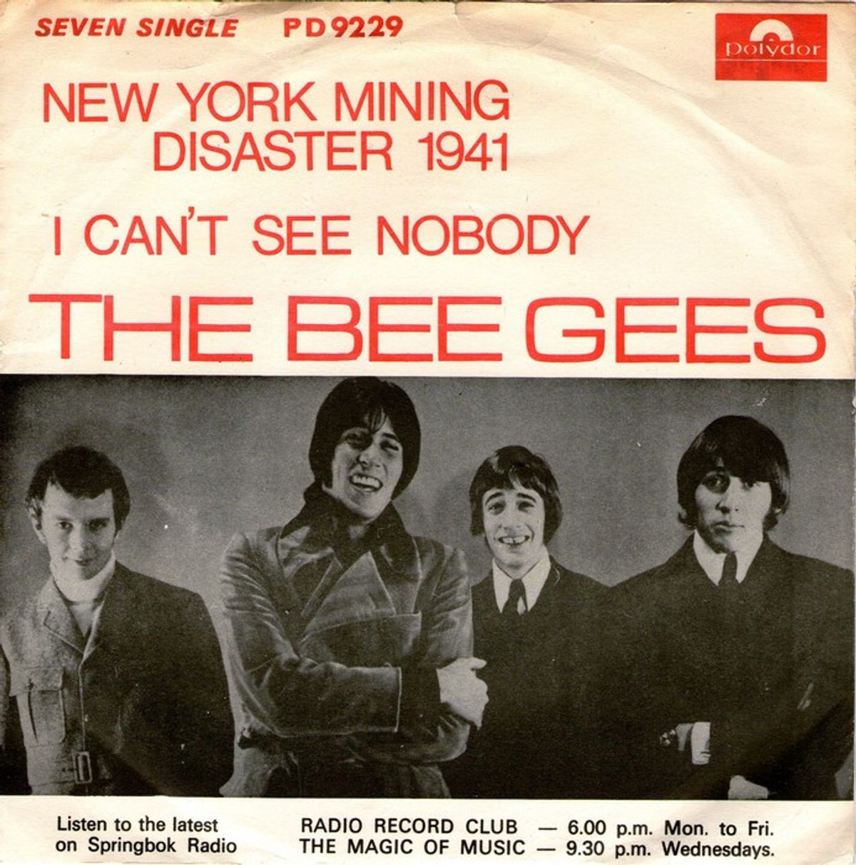 #DisasterSongs - The Bee Gees - New York Mining Disaster 1941 (1967)