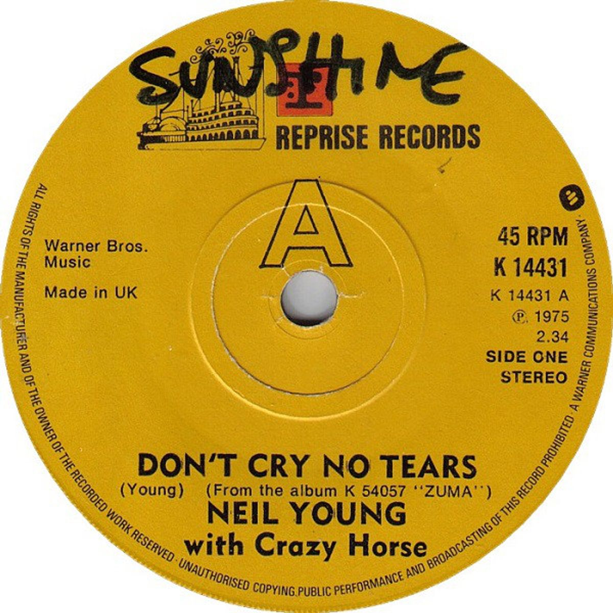 #Tranen - Neil Young - Don't Cry No Tears